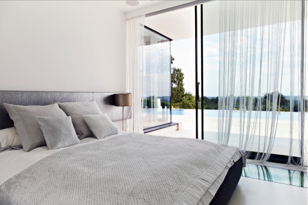 glass door bedroom