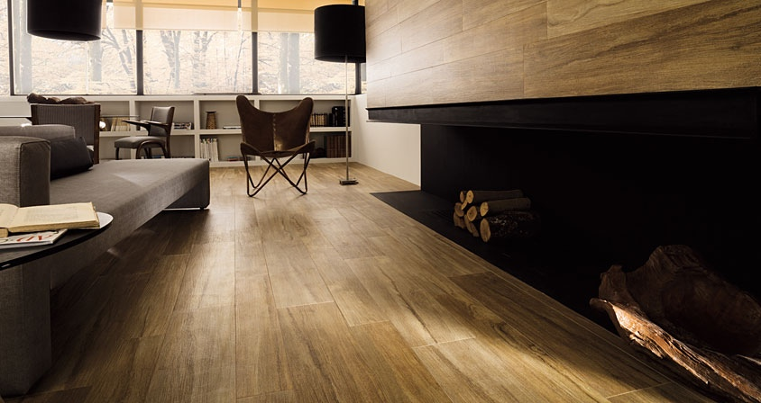 Hard wood floors and wall panels interior design ideas - Parker porcelanosa ...