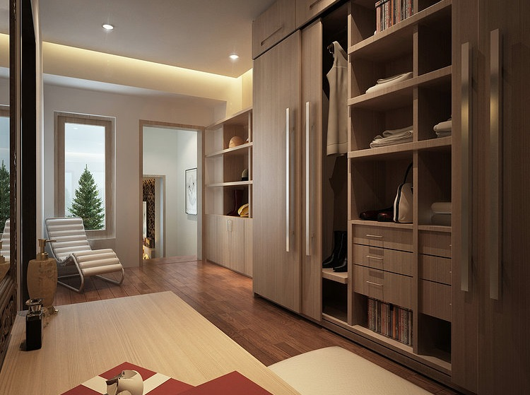 Interior designs filled with texture for Walk in wardrobe design