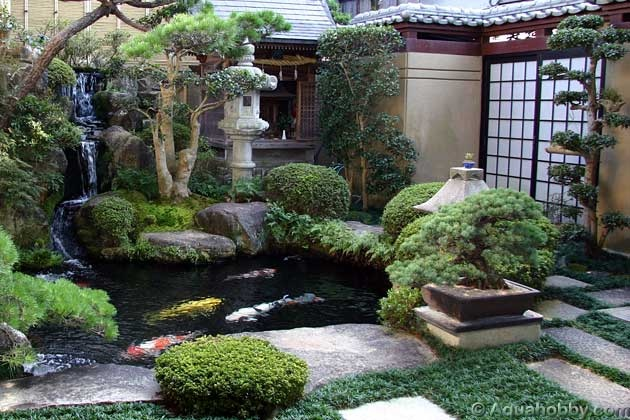 Japanese zen gardens for Garden pond pictures designs