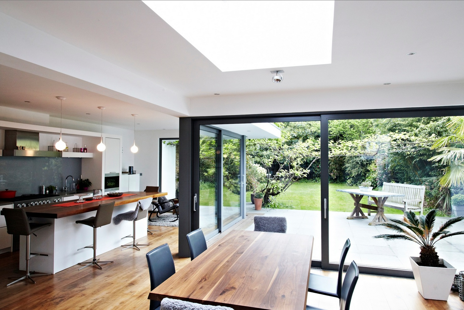 Open Glass Extension Patio