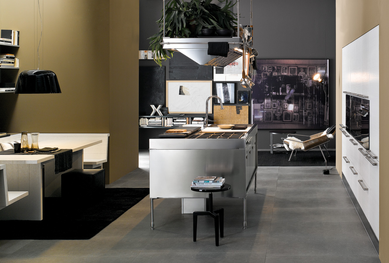 Kitchen Open Living Area - Modern italian kitchen design from arclinea