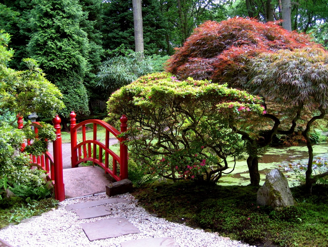 Japanese Garden Designs japanese water garden04koi pond Bridges