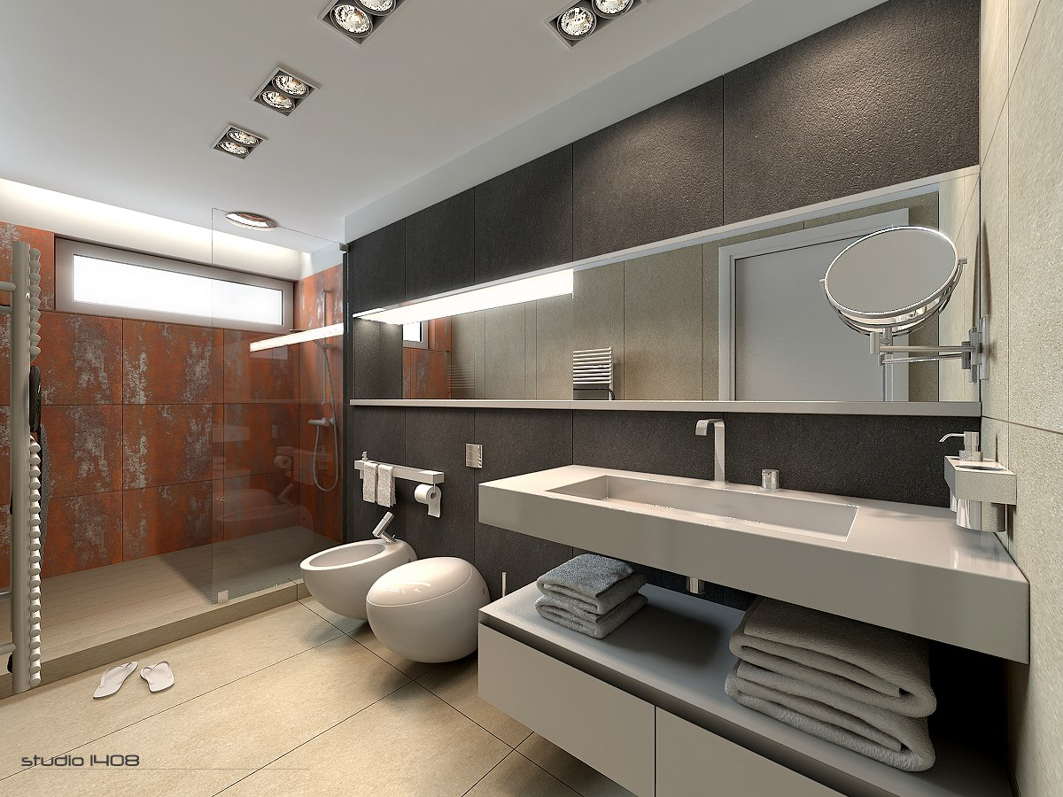 large apartment bathroom