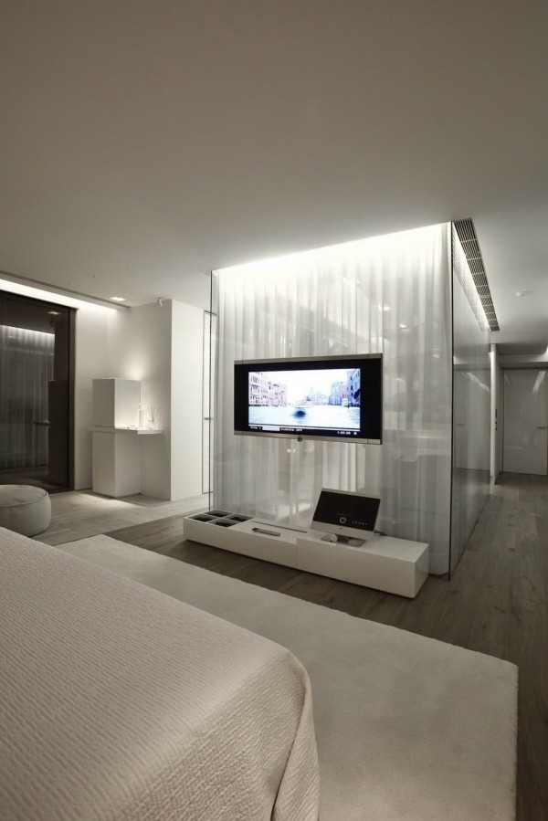 large bedroom television