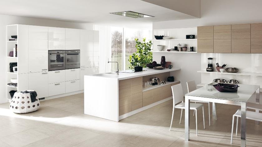 Contemporary kitchens for large and small spaces for Open kitchen style