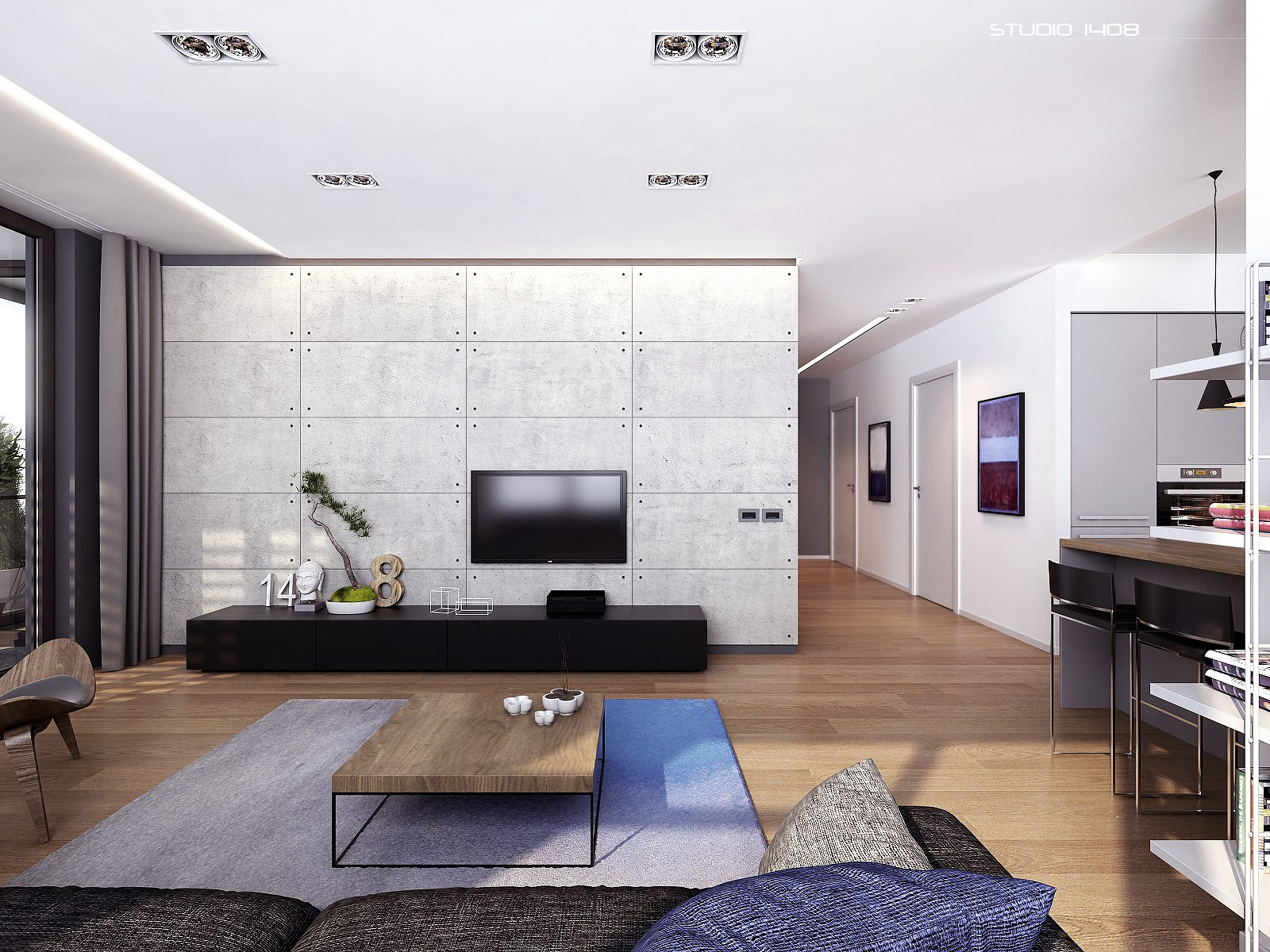 Apartment living for the modern minimalist - Small living space design concept ...