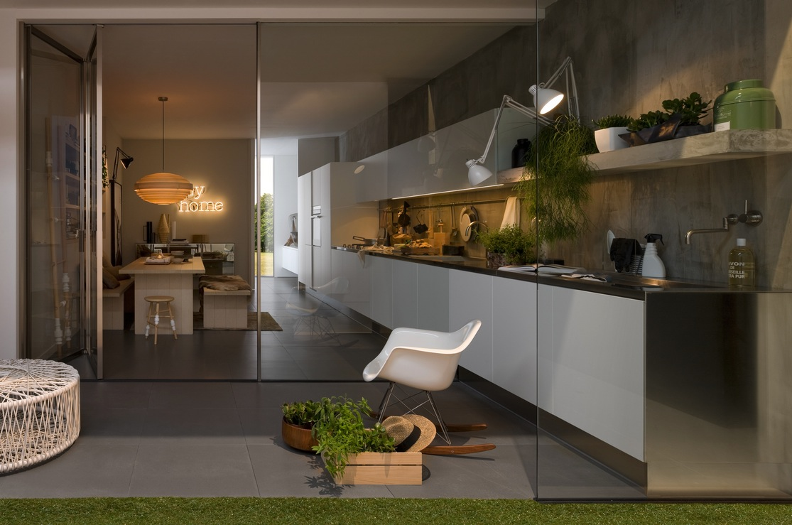 Modern italian kitchen design from arclinea for State of the art house designs