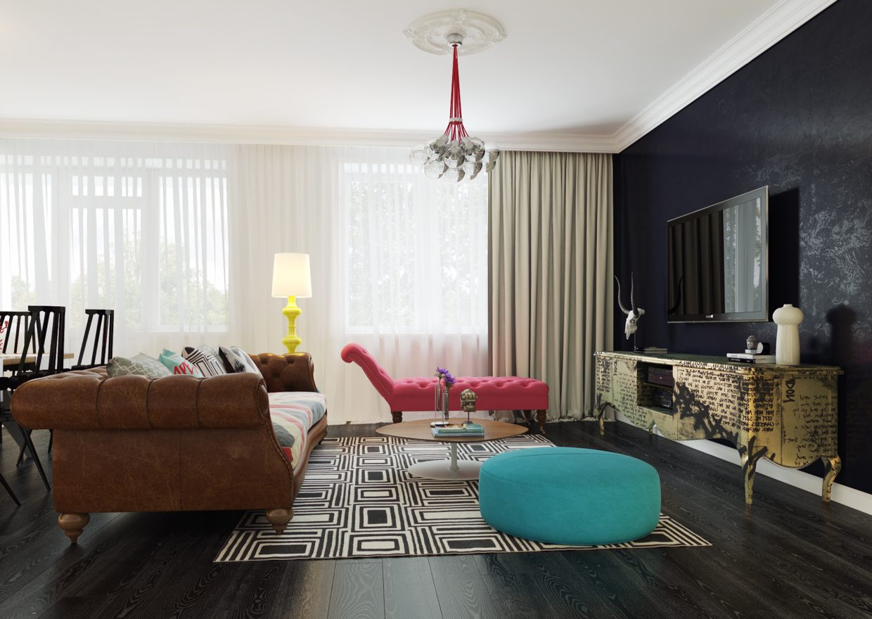 modern pop art style apartment