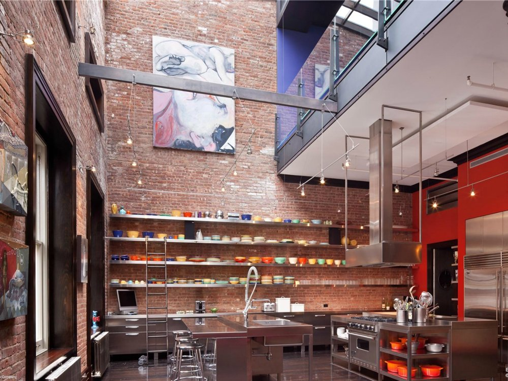 Mansion loft kitchen space interior design ideas for Loft apartments in nyc