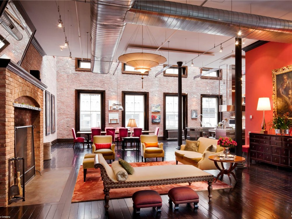 Tribeca loft mansion has million dollar style for Loft apartments in nyc