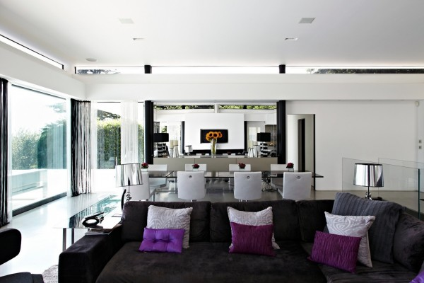 mirror and glass walls