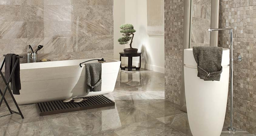 Porcelanosa contemporary home products for Contemporary bathroom tiles