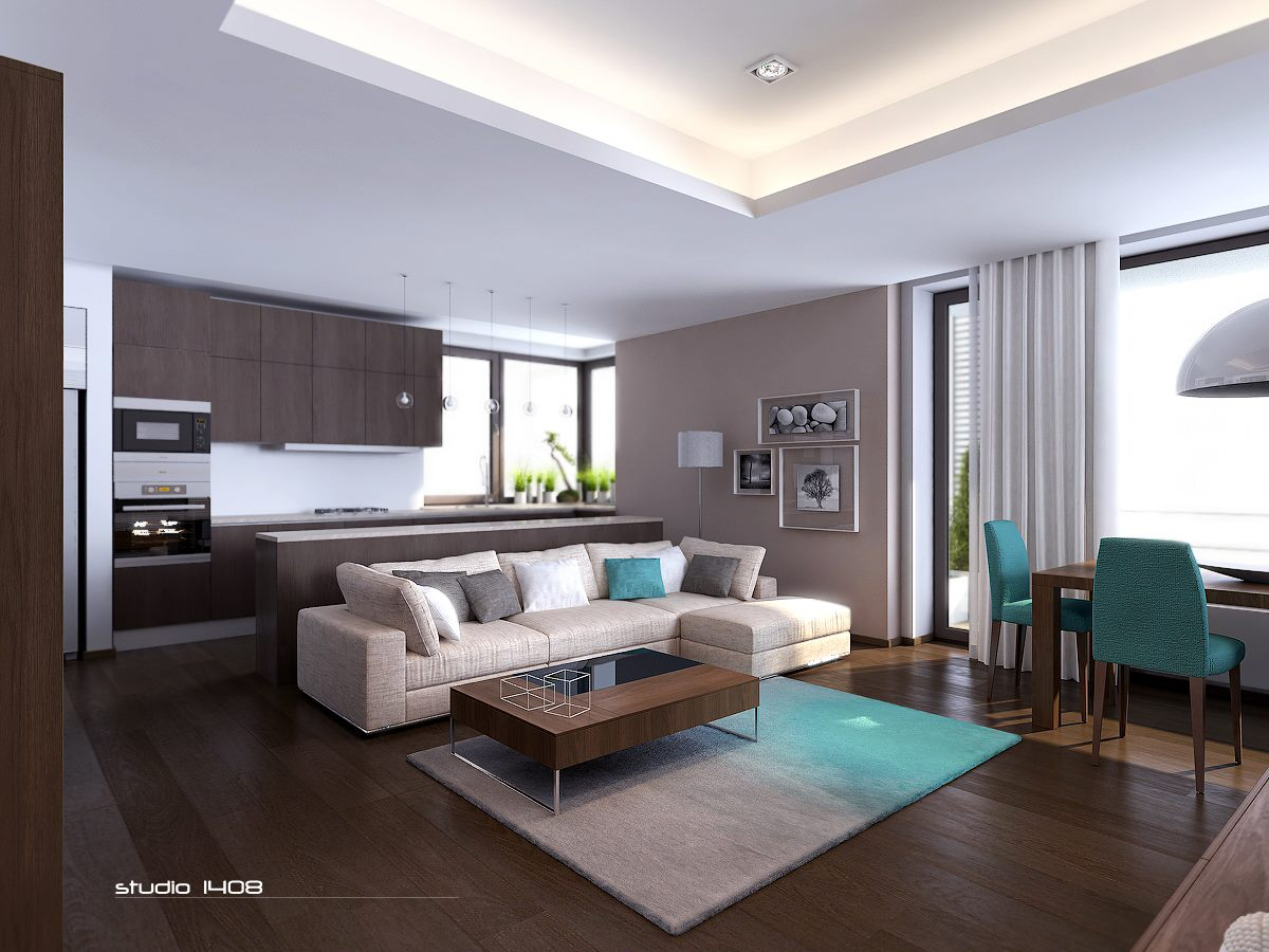 Modern apartment living interior design ideas for Modern small apartment interior