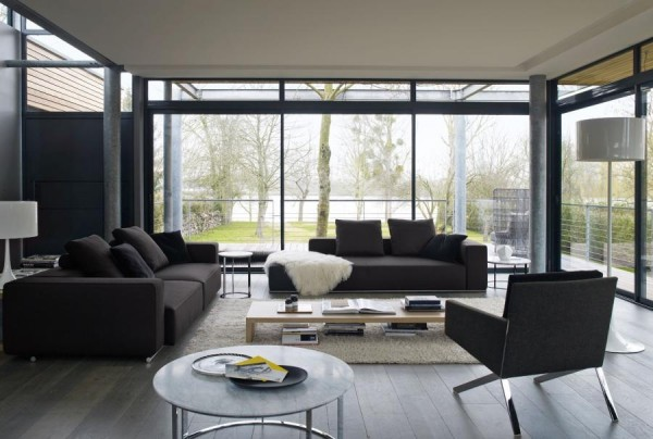 Modern furnishing from b b italia for Living room 2 seating areas