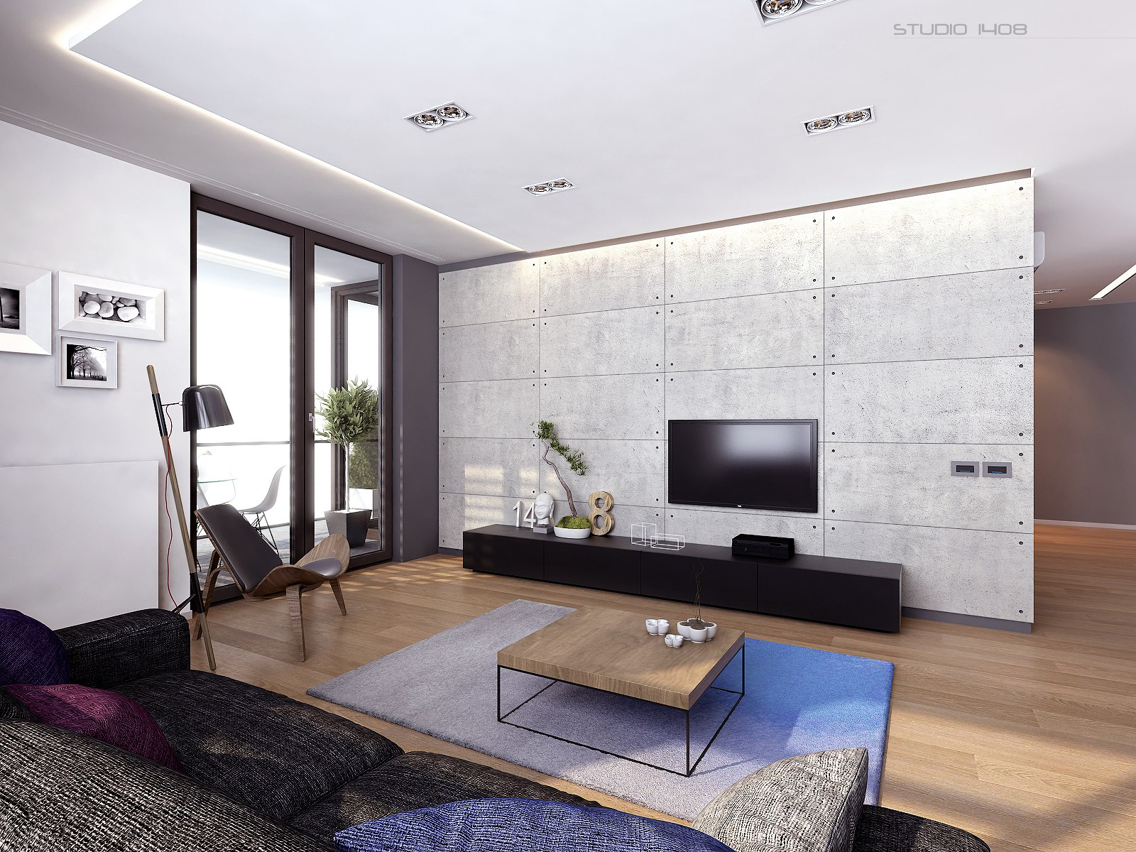 Interior design living room contemporary interior design for Modern apartment living room decor