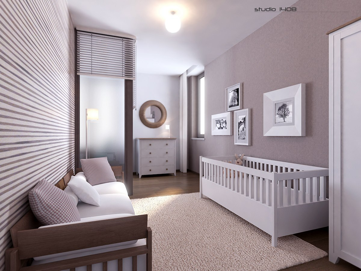 Apartment living for the modern minimalist for Baby bedroom design