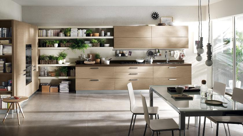 Contemporary kitchens for large and small spaces for Modern kitchen cabinets for small kitchens