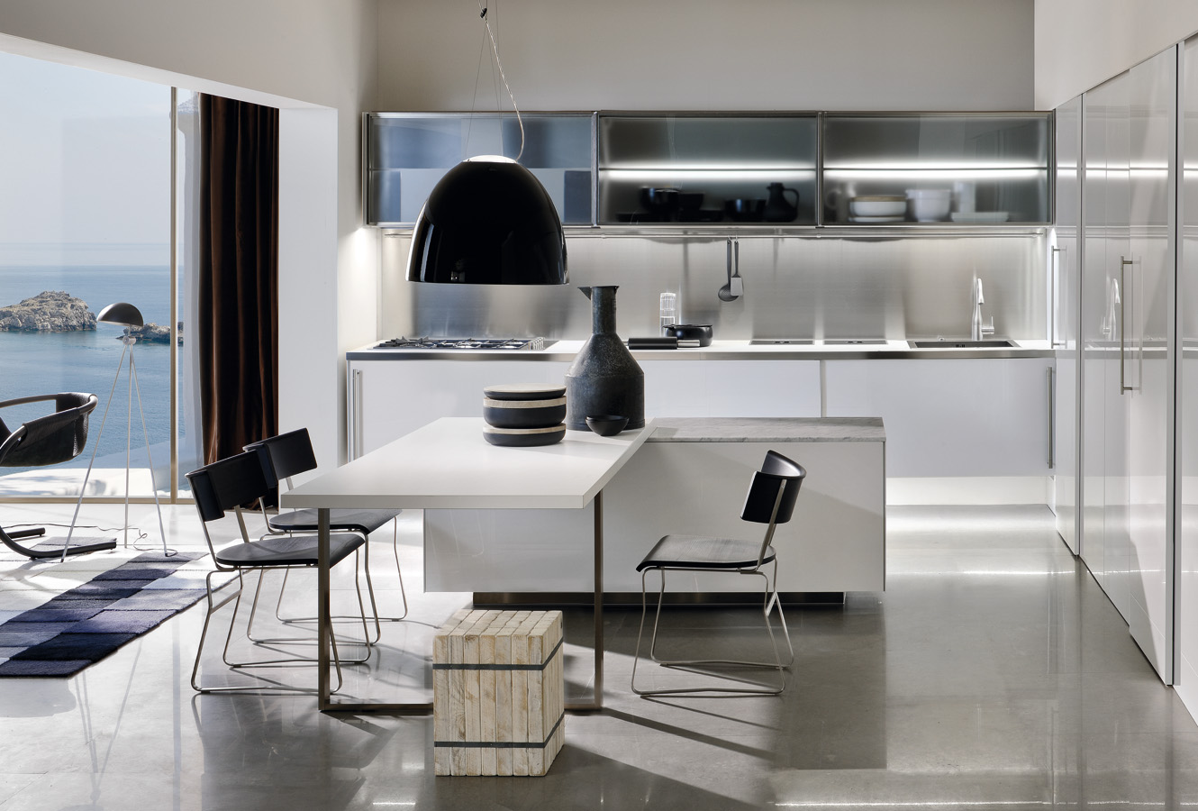 Modern Kitchen Dining Space - Modern italian kitchen design from arclinea