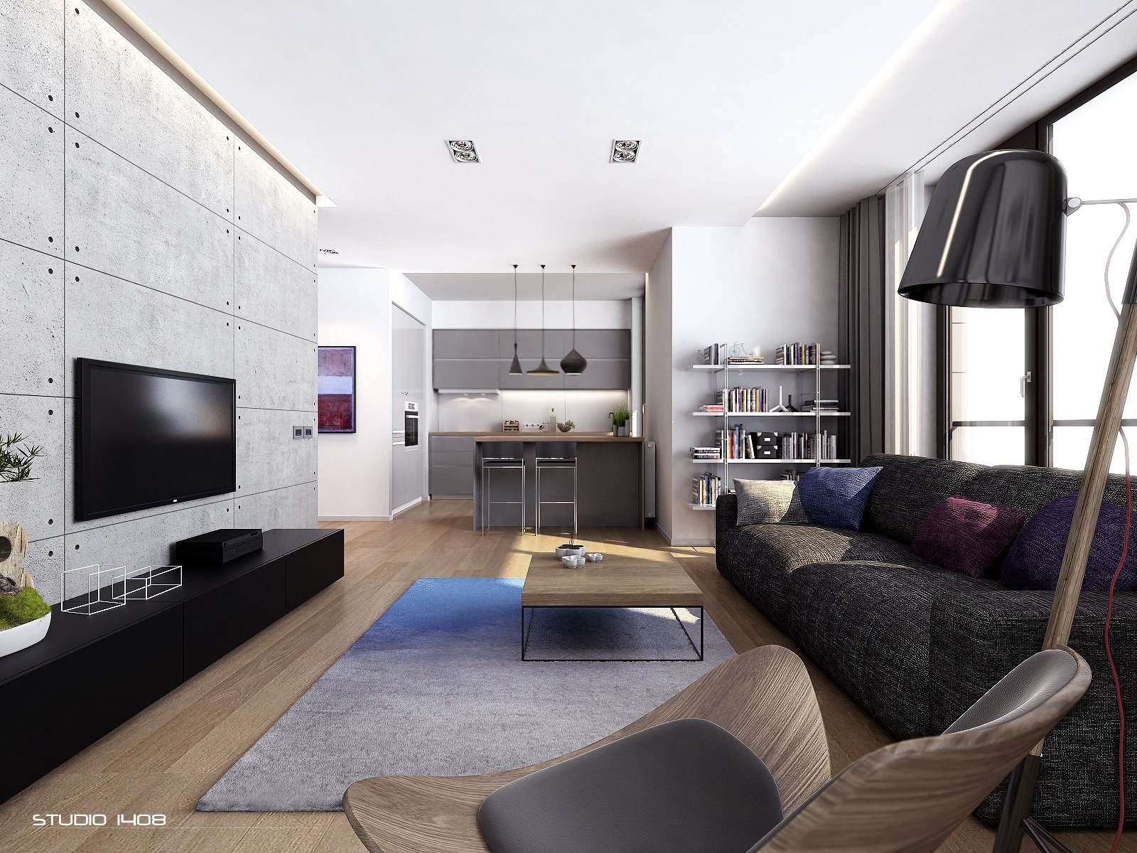 Apartment living for the modern minimalist for Modern living room accessories