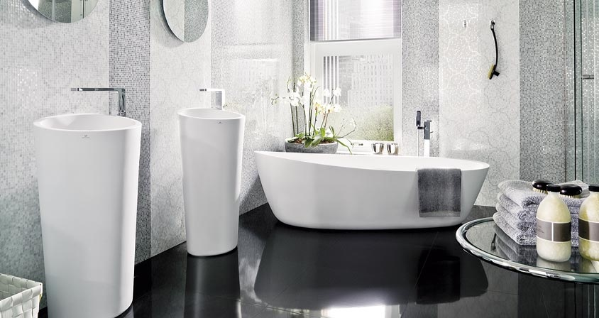 Porcelanosa contemporary home products for Porcelanosa bathroom floor tiles