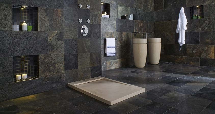 Be Covered Floor To Ceiling In Dark Stone Tiles But It Is Grand And