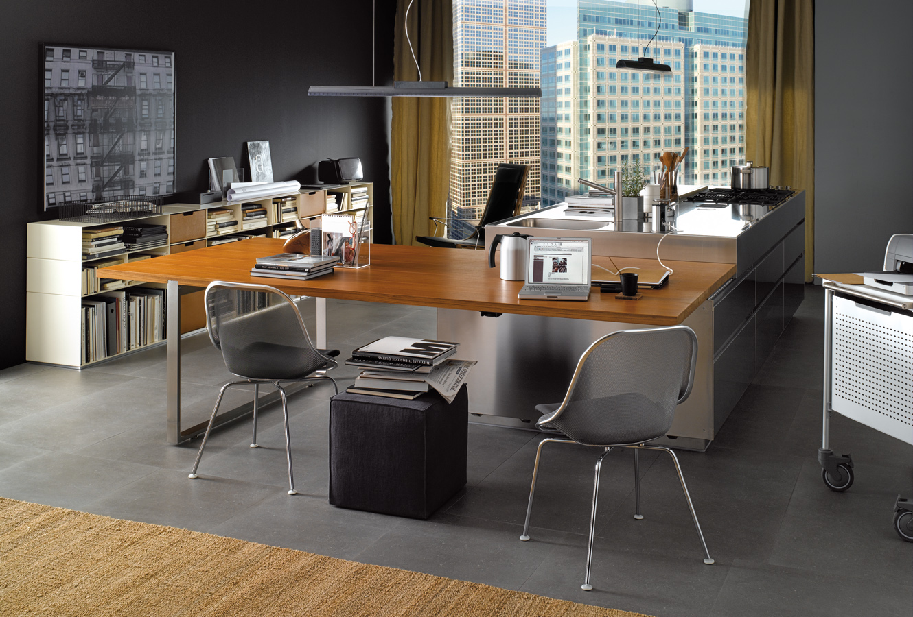 Modern italian kitchen design from arclinea for Modern office space layout