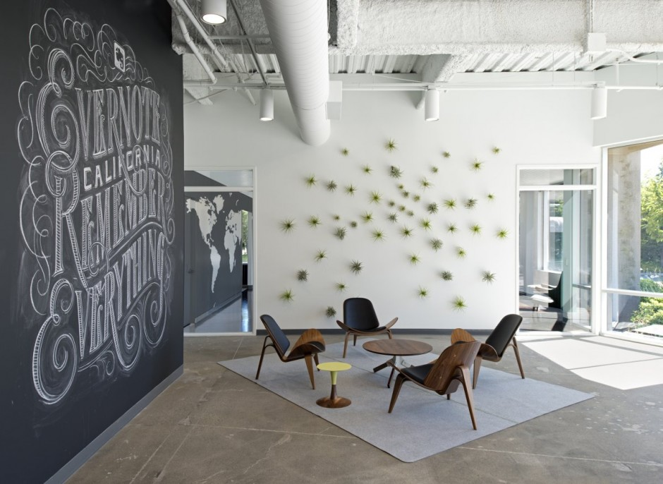 Evernote office interiors for Industrial design company