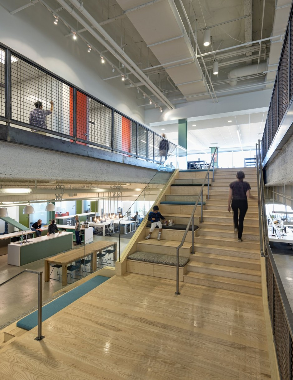 Open Concept Modern Workspace - Evernote office interiors