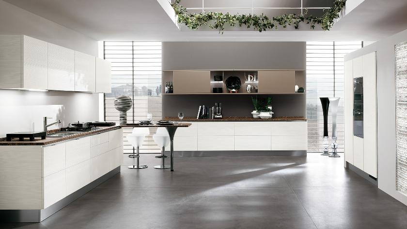 Contemporary kitchens for large and small spaces for Open style kitchen cabinets