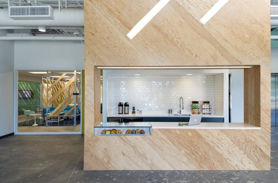 Open Office Kitchen - Evernote office interiors
