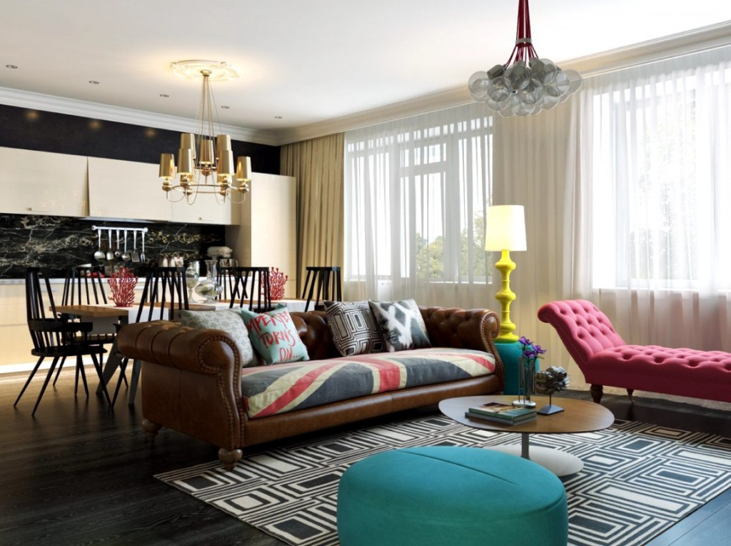 . Modern Pop Art Style Apartment