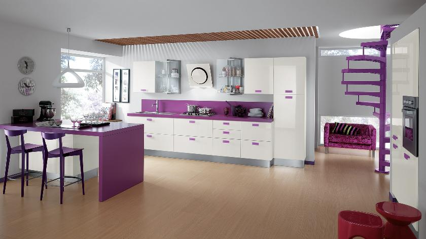 Purple kitchen accent color interior design ideas for Kitchen accent colors