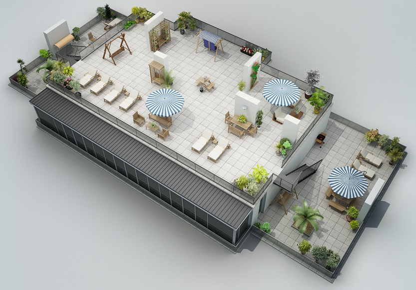 Rooftop Patio Apartment Design Interior Design Ideas - Rooftop patios