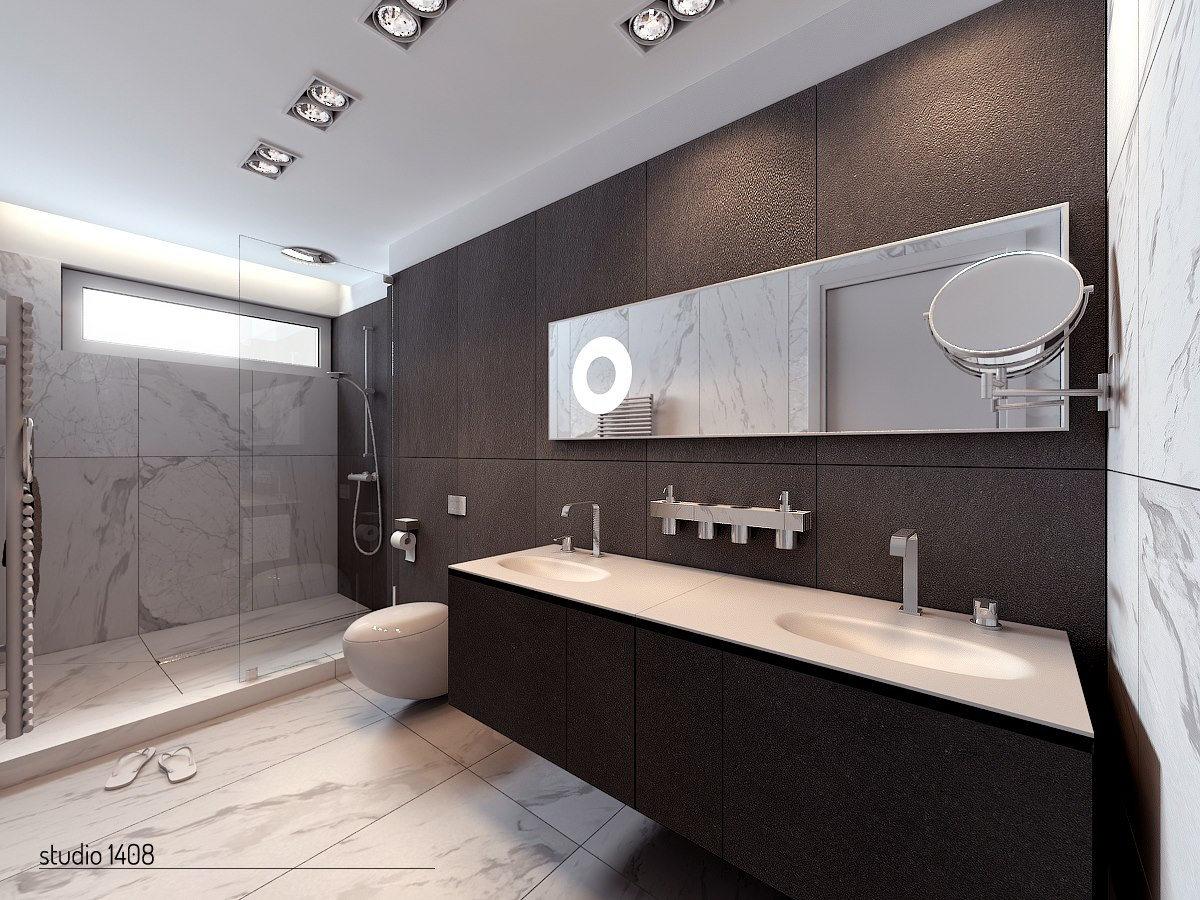 The Linear Design Is Carried Into The Bathrooms Of These Gorgeous