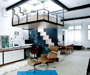 suspended bedroom