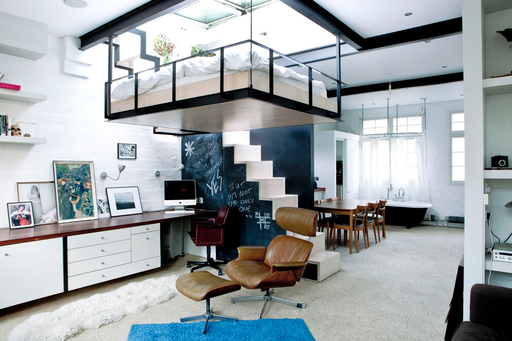 saving space with a suspended bedroom