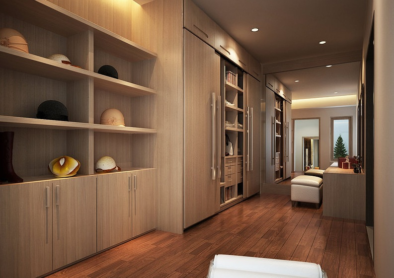 Interior designs filled with texture for Designs for walk in closets