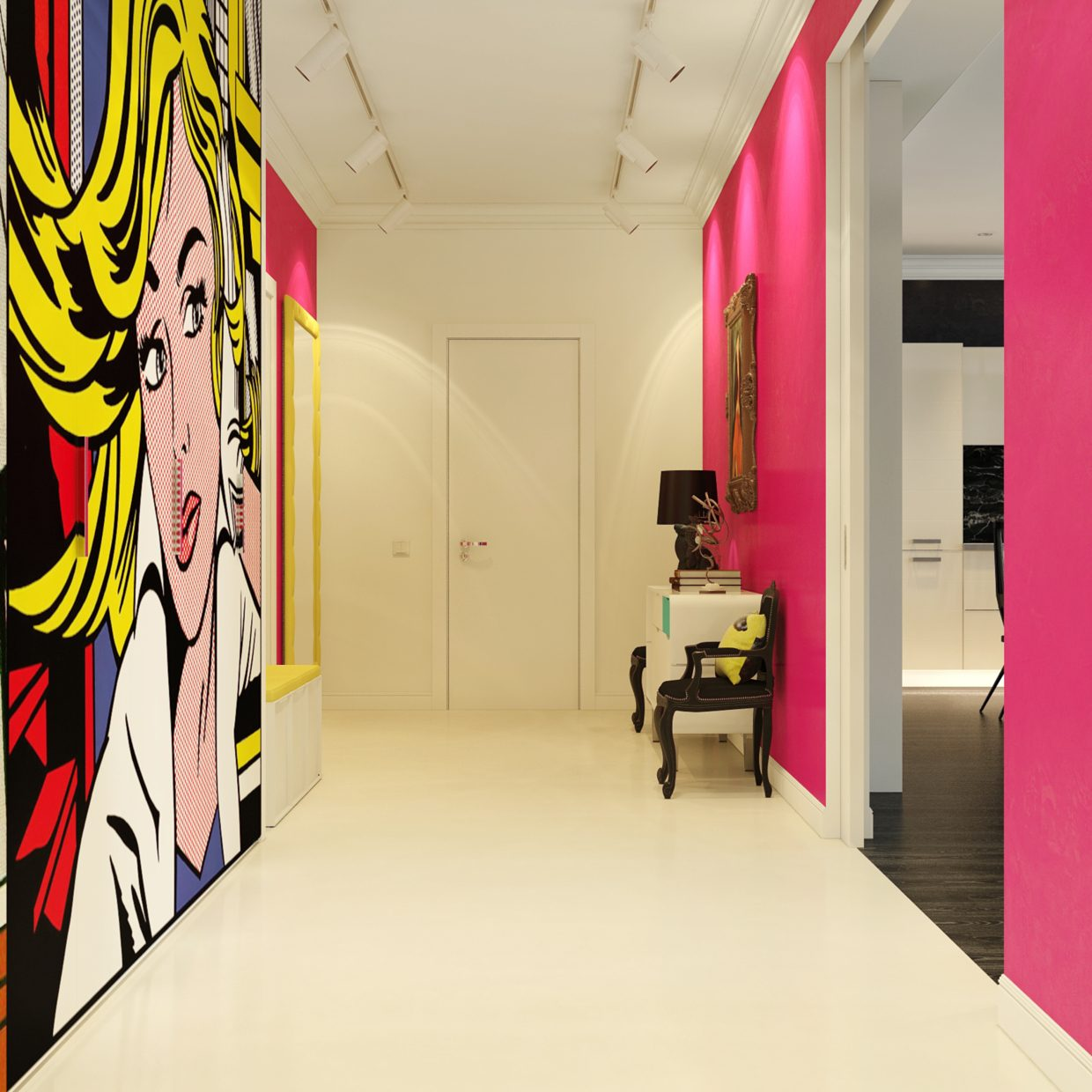 Pop Wall Design Photos : Modern pop art style apartment