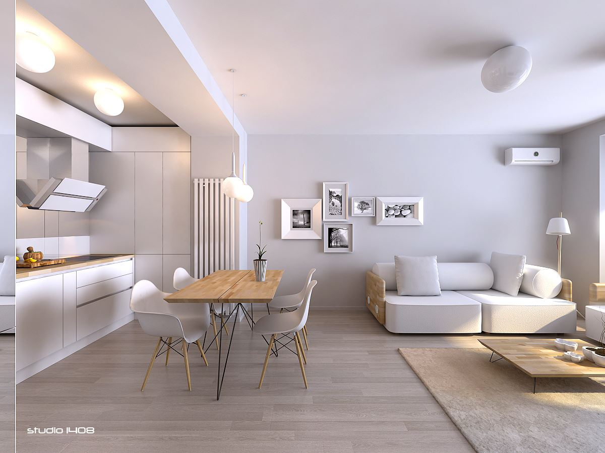 Decorating Ideas > Apartment Living For The Modern Minimalist ~ 093226_White Apartment Decorating Ideas