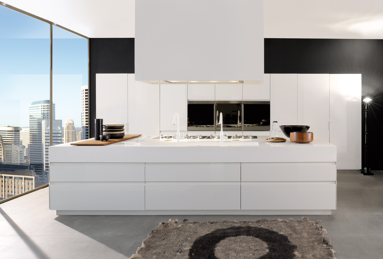 White Kitchen Recessed Doors - Modern italian kitchen design from arclinea