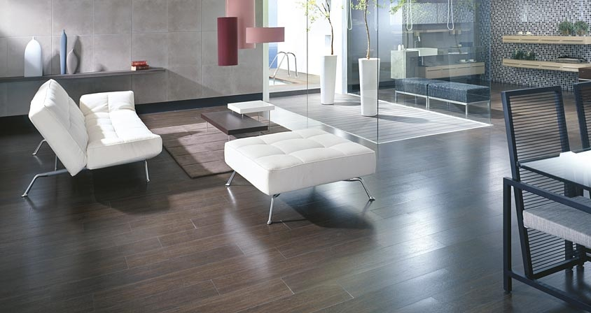 ... and hardwood floors make this living space contemporary and clean