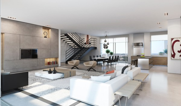 Ando Studio Modern Home And Luxury Apartment Renderings