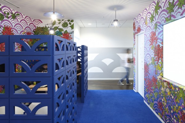 15 blue cubicle walls colorful workspace