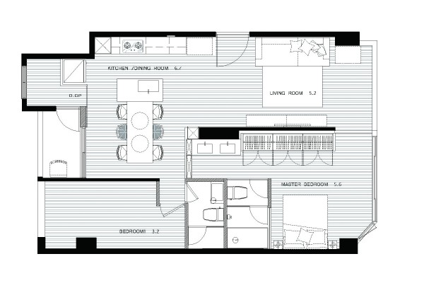 18 apartment floorplan