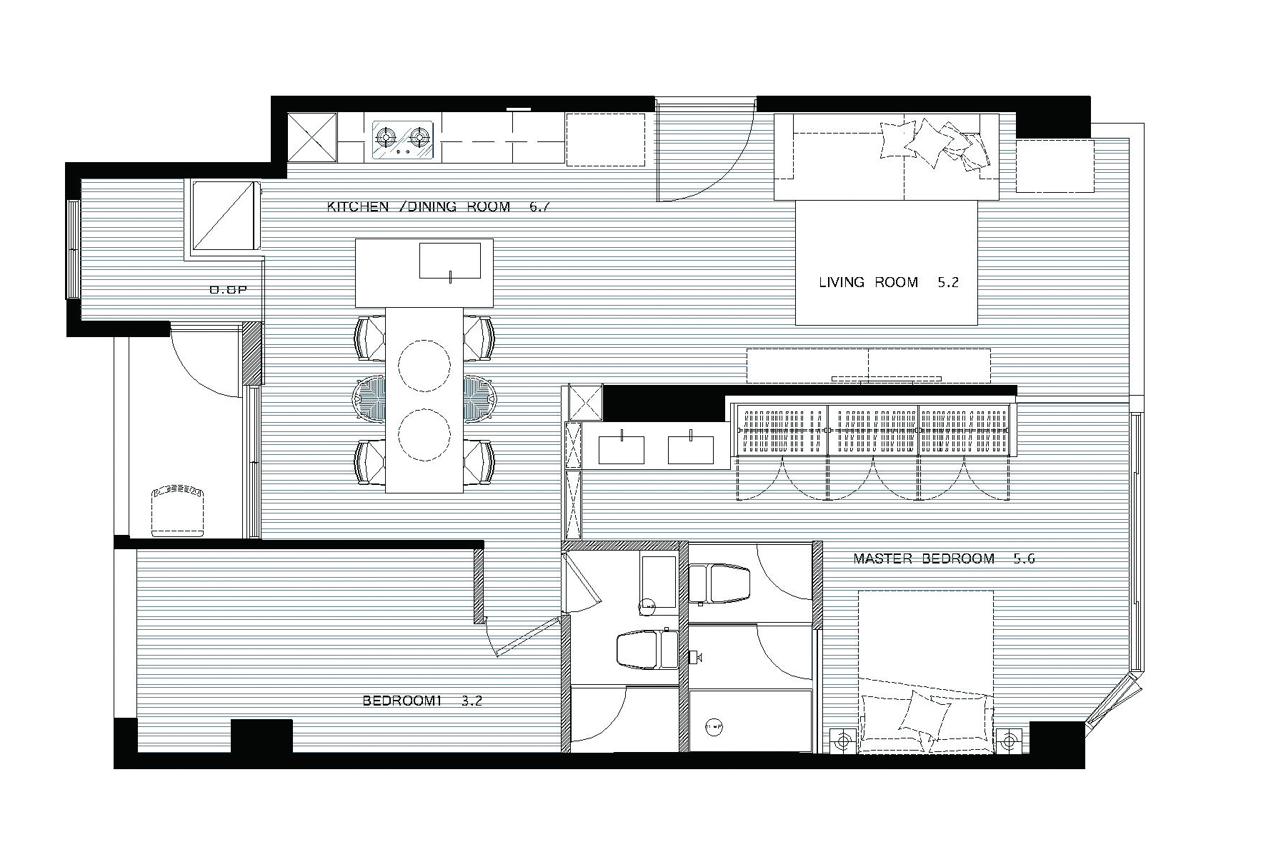 Small Apartment Kitchen Floor Plan a modern taiwanese apartment with a funky twist