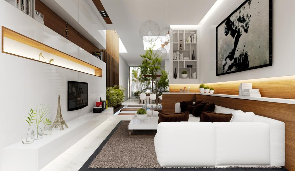 This Space Conscious Living Room Turns A Narrow Space Into Something