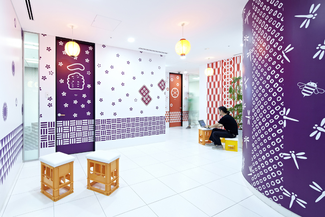 24 creative office purple walls Interior Design Ideas