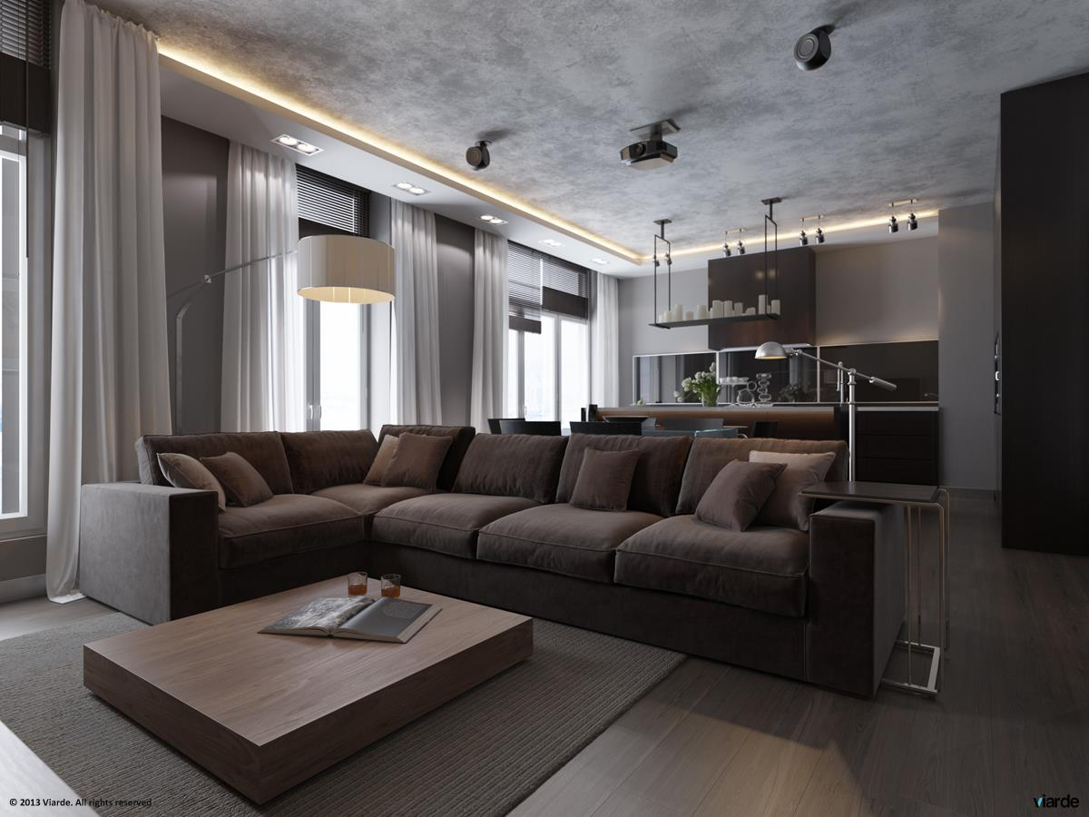 3 plush grey sofa interior design ideas for Grey interior designs