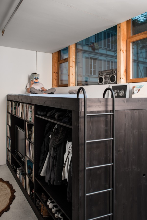 5 lofted basement reading nook